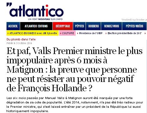 Valls le plus impopulaire