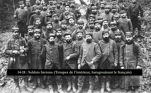 14-18 - Soldats bretons (baragouinant le français)... [Troupes coloniales (de l'intérieur)]