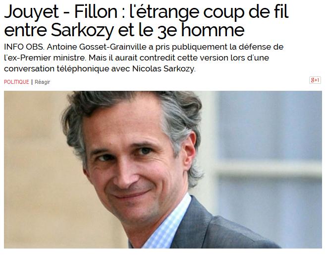 Affaire Jouyet Fillon Sarkozy