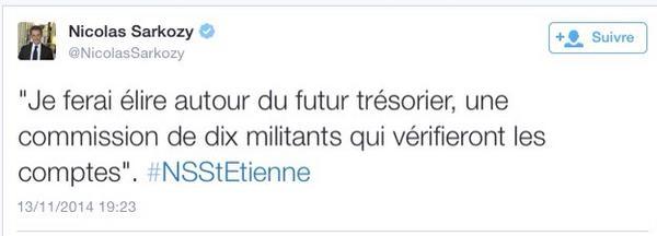 Tweet de Sarkozy corrumption Militant
