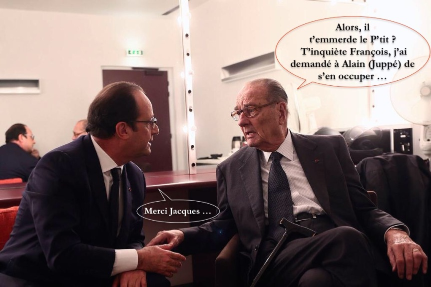F Hollande et Jacques Chirac