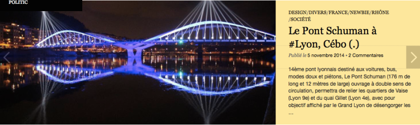 Pont Schuman Pont Gérard Collomb