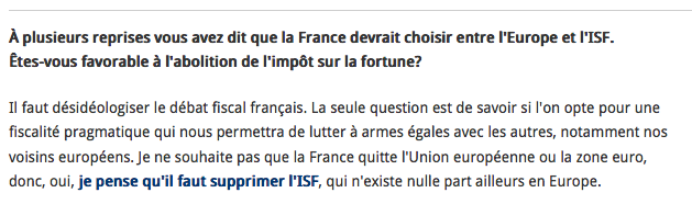 Sarkozy Suppression ISF ITW Figaro