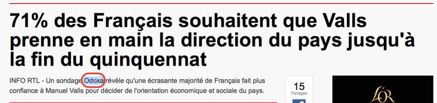 Valls Sondage positif