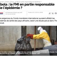 #Ebola en Afrique: Donc c'est la faute du FMI...