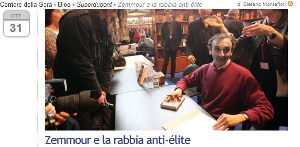 Eric Zemmour   Corriere della Sera