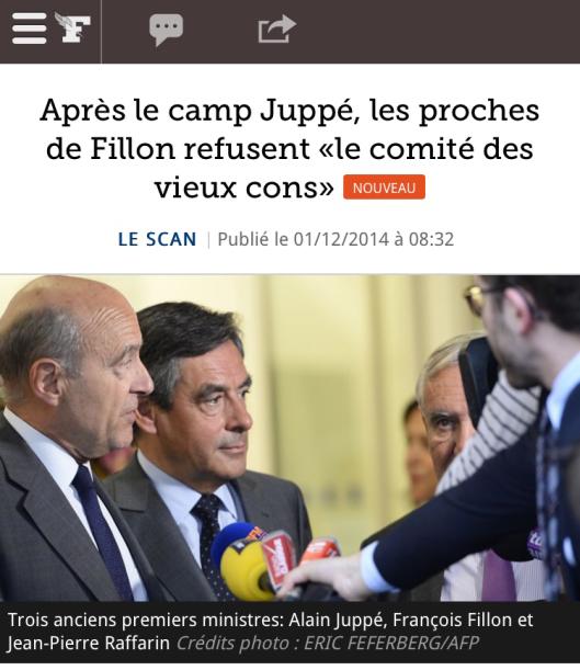 Figaro Comité des vieux cons Sarkozy UMP