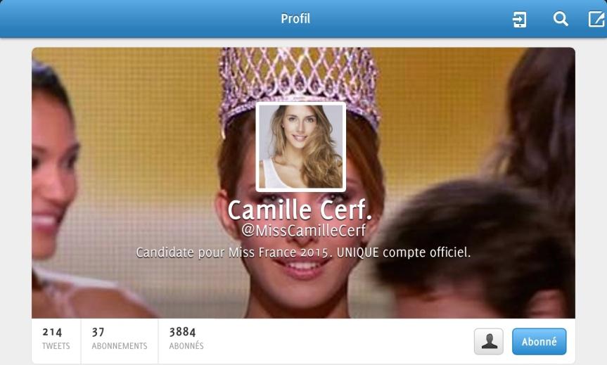 Twitter Miss France 2015