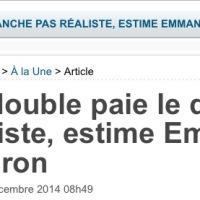 """Puis, E. Macron dit: """"Tu bosses le dimanche et t'es payé comme un lundi, sans plus""""..."""