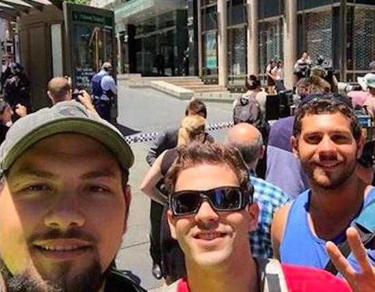 Selfie honte Sydney Prise otages