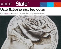 Théorie sciientique sur les cons Slate.fr