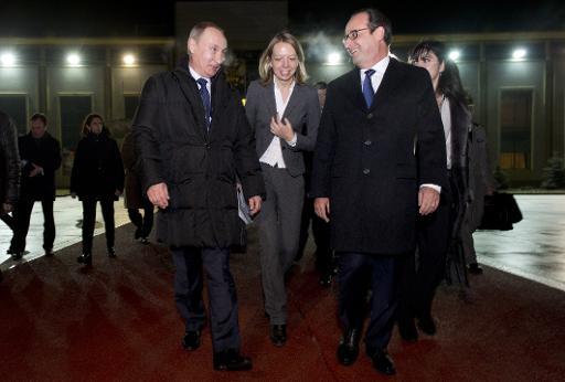 Vladimir Poutine François Hollande