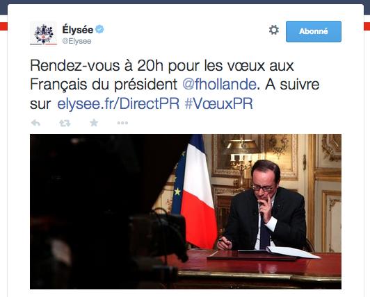 Voeux 2015 Hollande