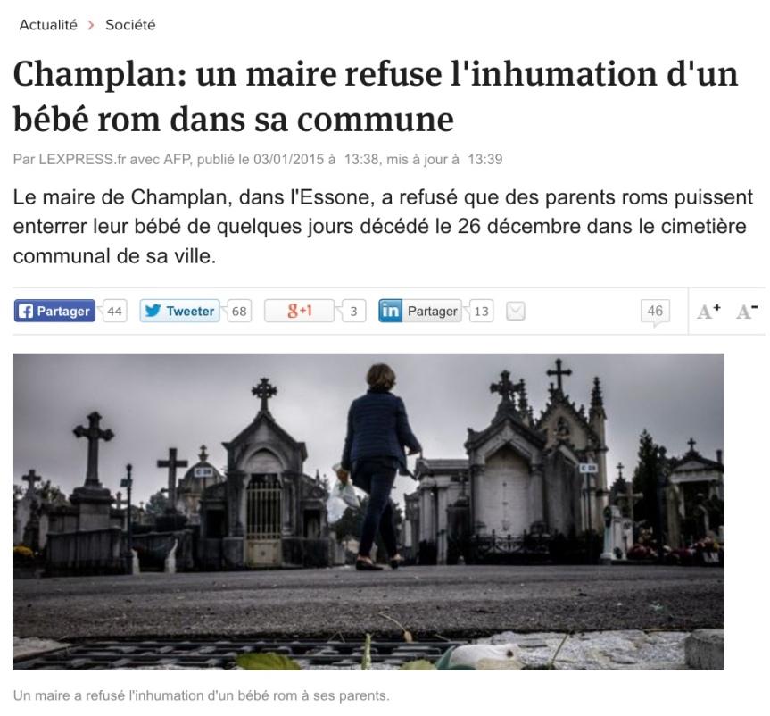 Bébé inhumation Champlan Essone
