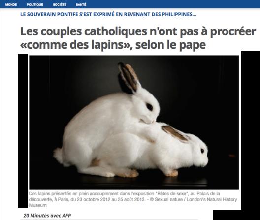 Le pape François, un an plus tard. Catholique-baisser-comme-des-lapins
