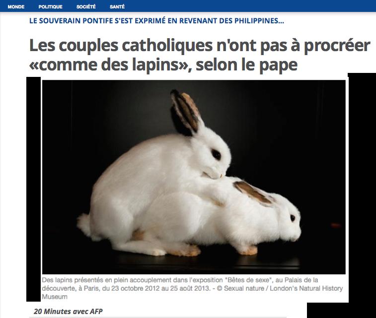 Catholique, baisser comme des lapins