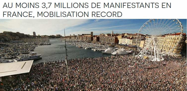Chomage Manif 11 janvier record
