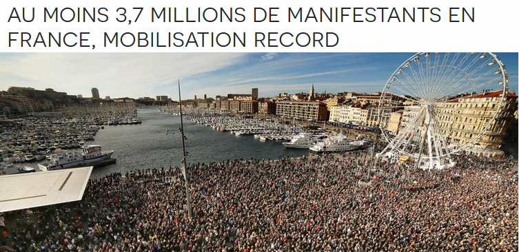 Chomage Manif 11 janvier record