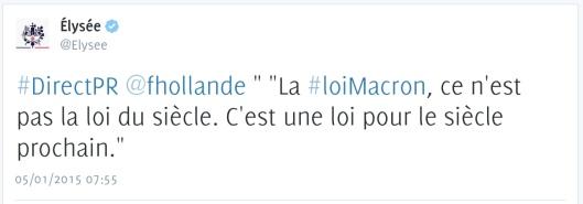 FRançois Hollande Loi Macron siecle  France Inter DirectPR