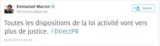 FRançois Hollande Loi Macron pas du sècle France Inter DirectPR