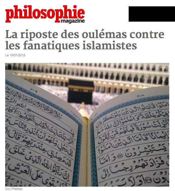 La riposte des oulémas contre les fanatiques islamistes dans Communauté spirituelle riposte-musulmane