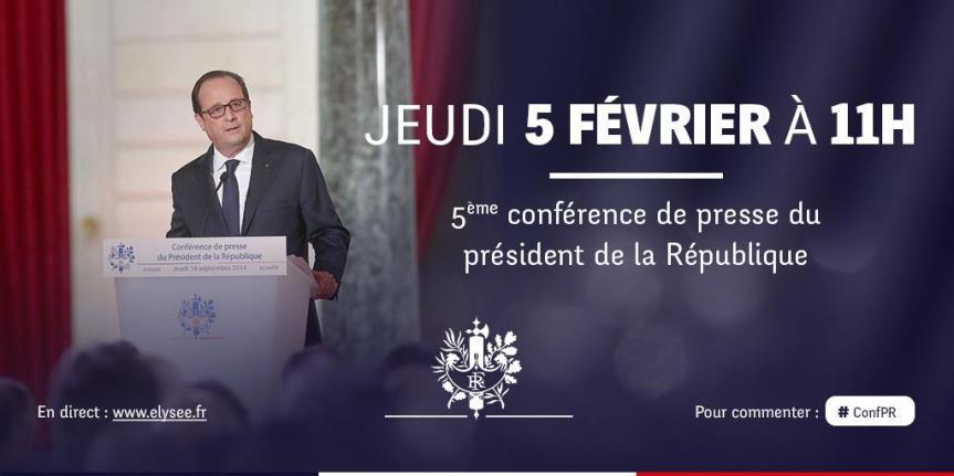 Conférence de Presse de François Hollande Elysée