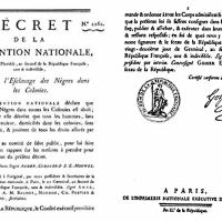 « Moi libre aussi » 04.Fév.1794 : 1ère fausse abolition de l'esclavage….