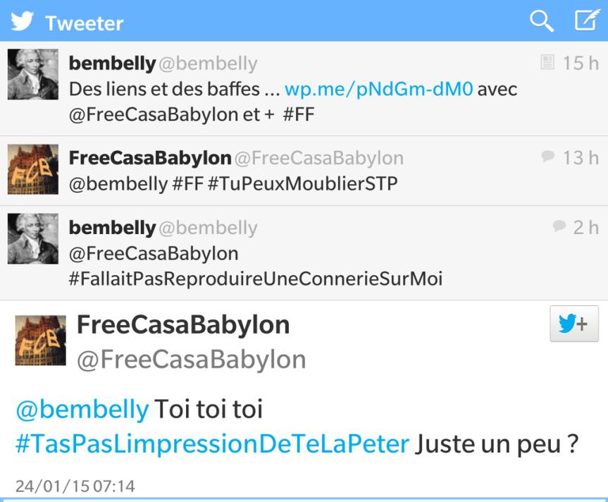 Tweet Frecasababylon
