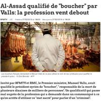 Manuel Valls, Bachar Al-Assad et les garçons bouchers (c'est drôle)...