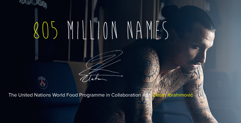 The United Nations World Food Programme in Collaboration with Zlatan Ibrahimović