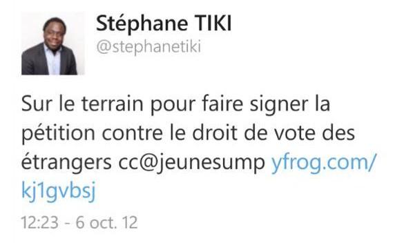 Tiki droit de vote des étrangers