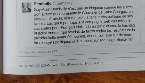 CBB2IHsWQAADIyA lyonnais à suivre sur twitter TRibune de Lyon 26 mars 2015 2