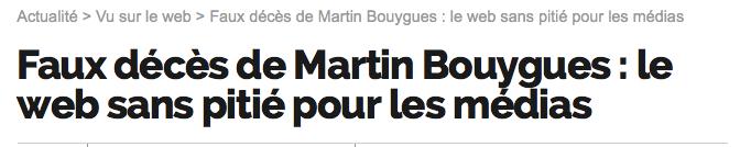 Faux décès de Martin Bouygues : le web sans pitié pour les médias