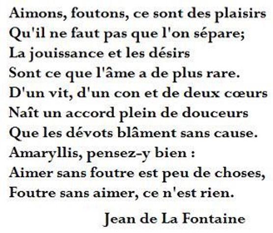 Jouissance Et Désirs Jean De La Fontaine Poésie Coquine