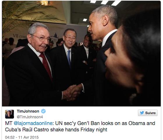 Obama-Castro : une poignée de mains symbolique