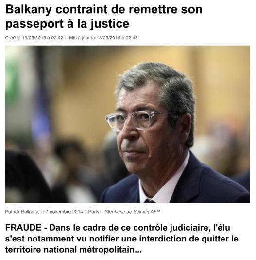 Balkany Passeport justice
