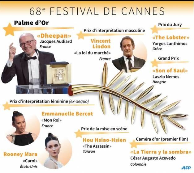 Festival Cannes 2015 Palmarès Infographie