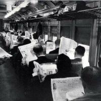 Avant les smartphones, dans les transports en commun ...