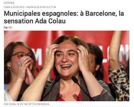 Municipales espagnoles: à Barcelone, la sensation Ada Colau