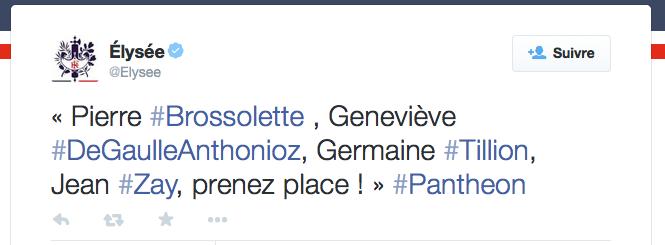 Prenez place François Hollande Panthéon 2015