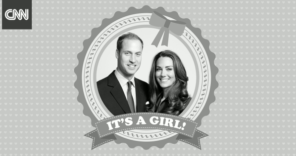 Royal Baby Kate William It's a girl