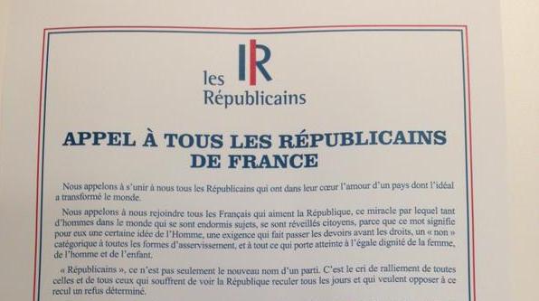 Sarkozy A tous les républicains de France