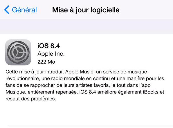 Apple IOS 8.4
