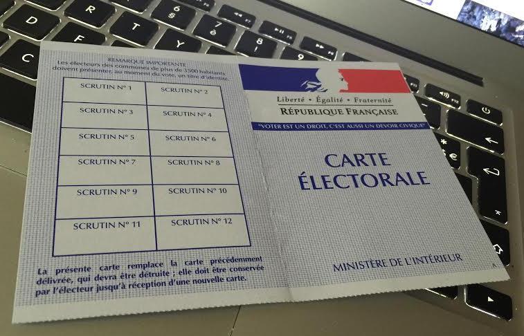Carte électeur 18 juin 2015
