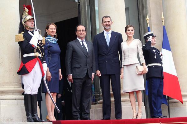 Le couple Royal d'espagne à Paris
