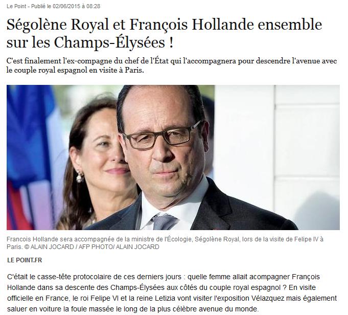 Ségolène Royal F Hollande