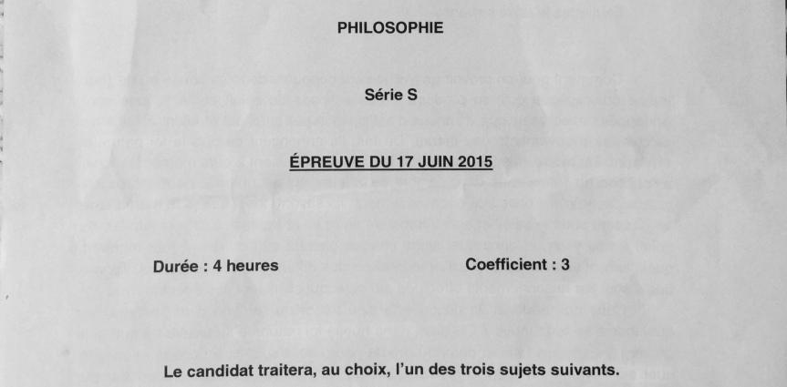 Sujets Bac Philo 2015 1