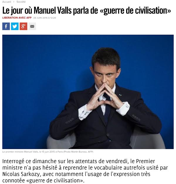 Valls Guerre de Civilisation