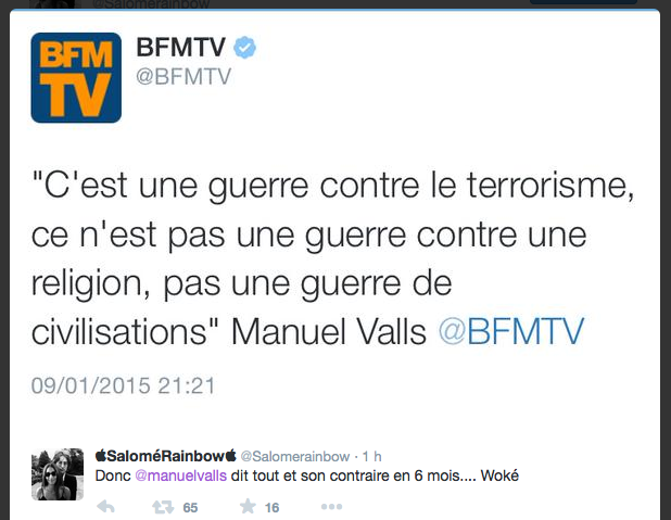 Valls Terrorisme Civilisation