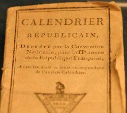 Calendrier Républicains revolutionnaire